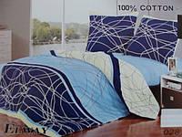 Сатиновое постельное белье полуторка ELWAY 028