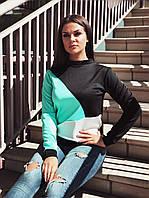 Стильный женский трикотажный батник (К23920), фото 1