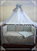 Постельный комплект в детскую кроватку.Элегант.
