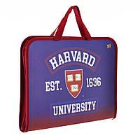 """Папка-портфель на молнии с тканевыми ручками """"Harvard"""", фото 1"""
