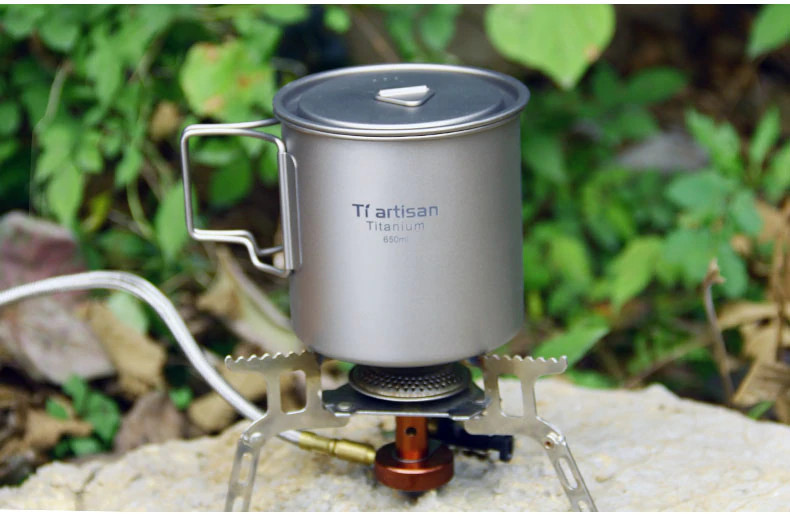 Титановая чашка с крышкой Tiartisan 650 мл