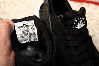 Женские и мужские кроссовки Nike Air Huarache Black/White, фото 3