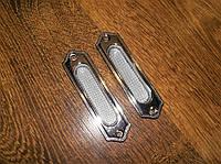 Ручка врезная на дверь ромбик хром