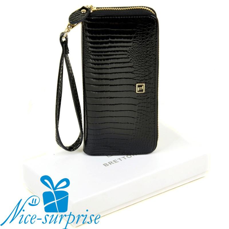 10b64c0c8d37 Женский кожаный кошелёк на молнии Bretton W38 black - Купить женский ...