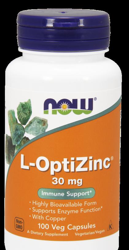 Now L-OptiZinc 30mg 100 veg caps