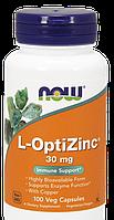 Now L-OptiZinc 30mg 100 veg caps, фото 1