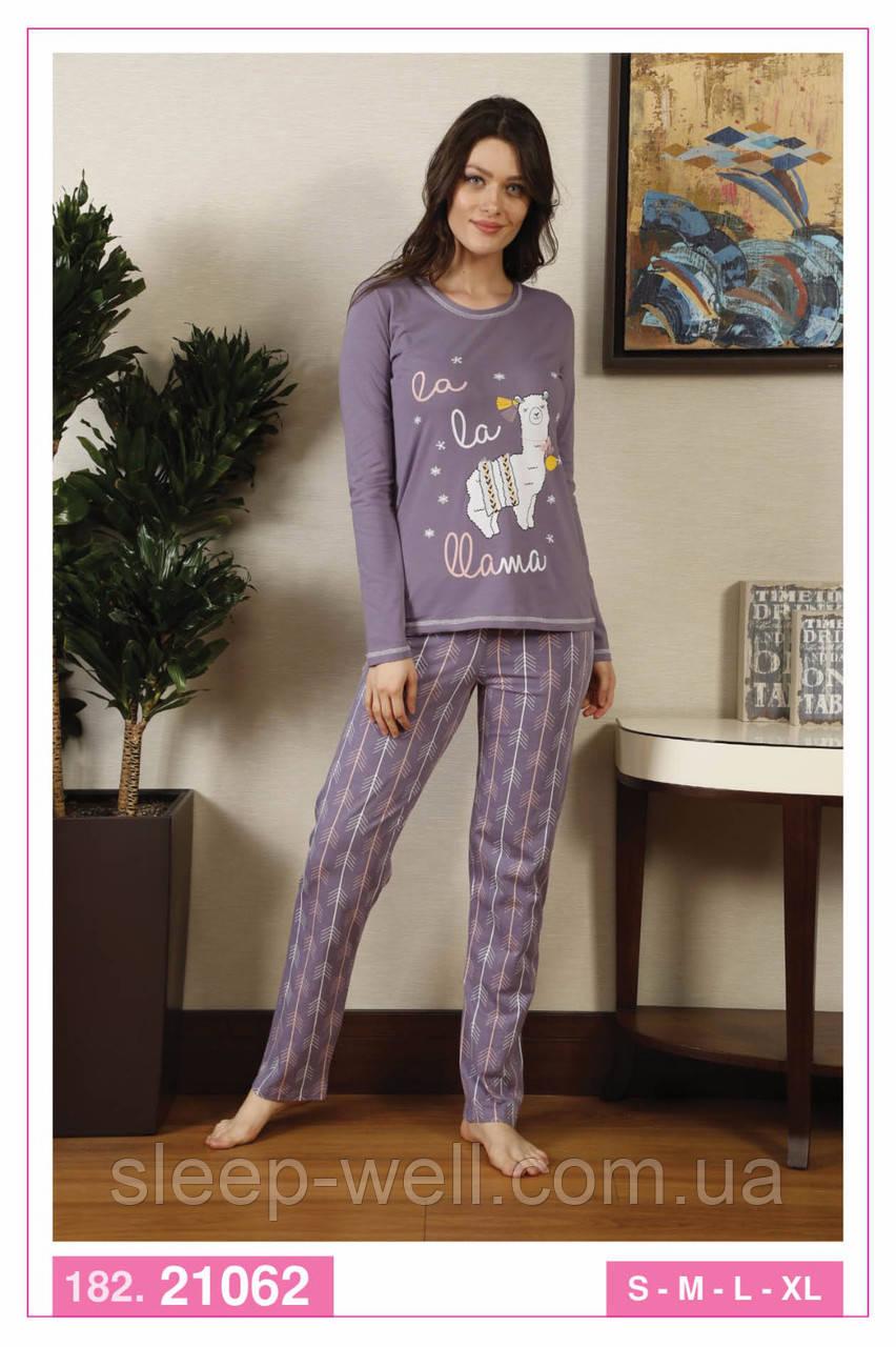 Стильна піжама з довгими штанами,