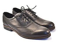 Туфли кожаные броги обувь больших размеров мужская  Rosso Avangard BS Felicete Uomo Black Pelle черные, фото 1
