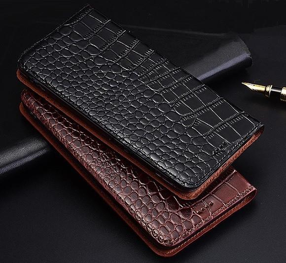 """ASUS ZenFone 5 LIte оригинальный кожаный чехол книжка из натуральной кожи магнитный противоударный """"ZENUS CROC"""