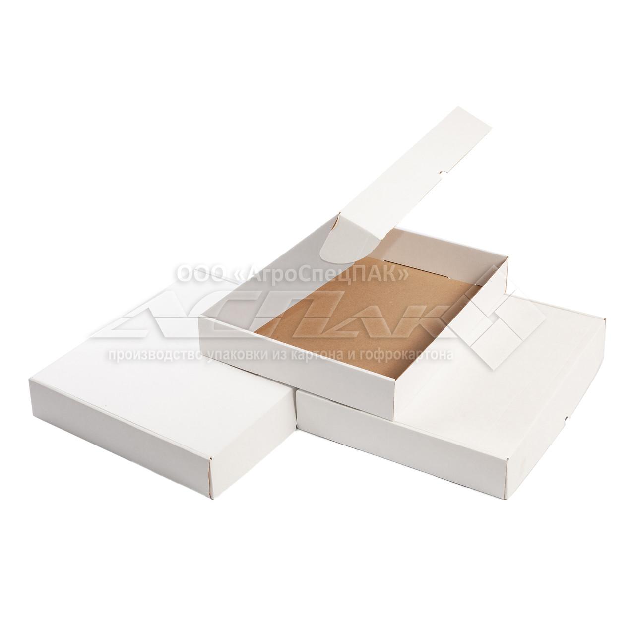 Картонные коробки самосборные 300х300х60, белые
