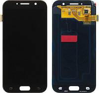 Дисплей для Samsung A520F Galaxy A5 (2017) + touchscreen, черный, Black Sky, OLED высокое качество