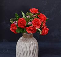 Букет роза капустная красная