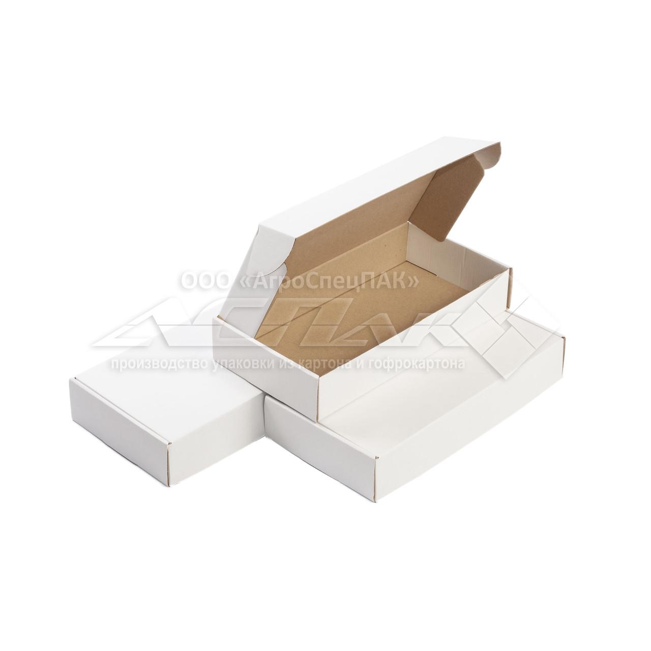 Картонні коробки самозбірні 303х153х53, білі