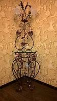 Коричневый торшер с кофейными розам 1115/2 СС