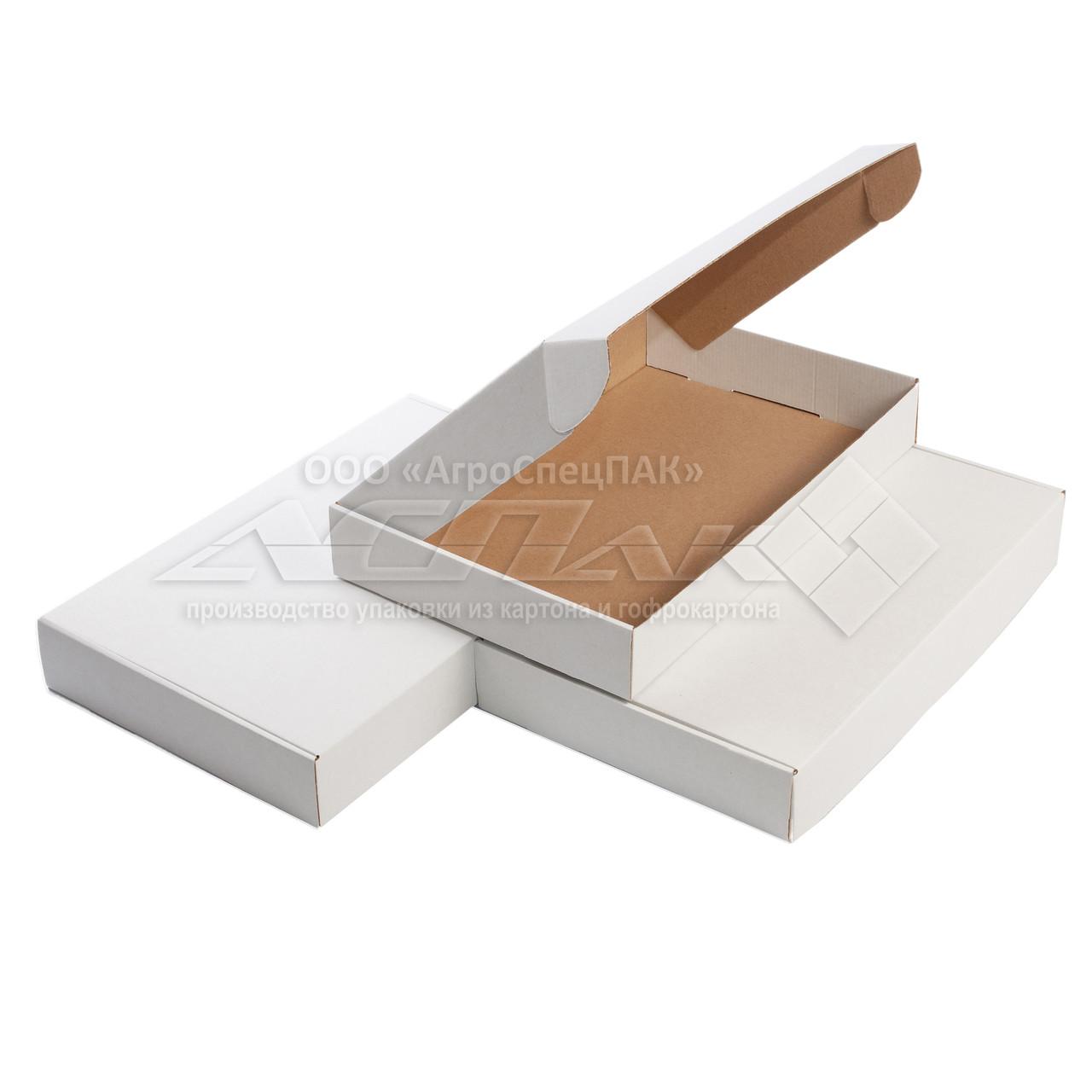 Картонные коробки самосборные 400х260х60, белые