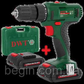 Аккумуляторный шуруповерт DWT ABS-14.4 Bli-2 BMC