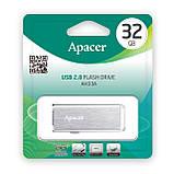 Флеш-память USB Apacer AH33A 32GB Metal silver (AP32GAH33AS-1), фото 3