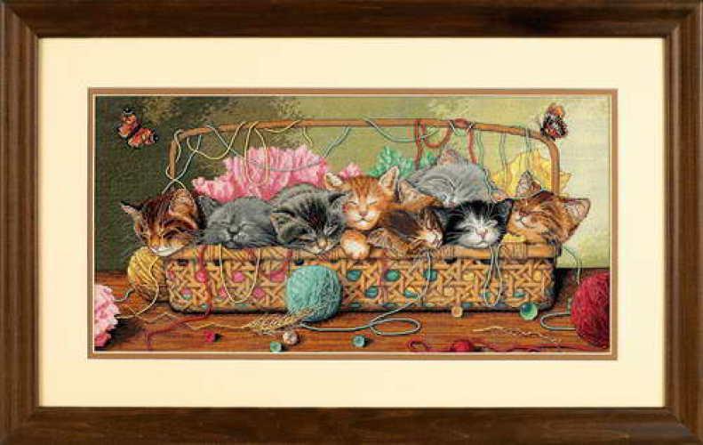 Набор для вышивки крестом Dimensions 35184 «Котята в корзинке»