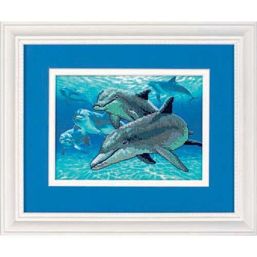 Набор для вышивки крестом Dimensions 6944 «Дельфины глубокого моря»