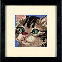 Набор для вышивки гобелен Dimensions 7206 «Косоглазый котенок»