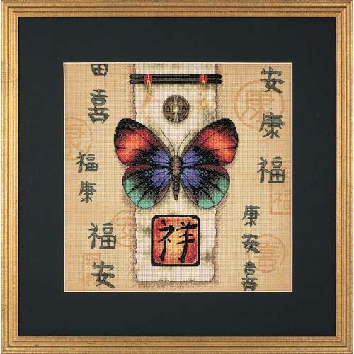 Набор для вышивки крестом Dimensions 35034 «Восточная бабочка»