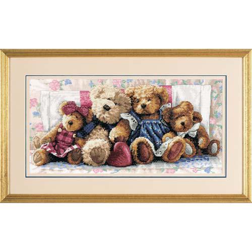 Набор для вышивки крестом Dimensions 35039 «Полоса любви. Мишки»