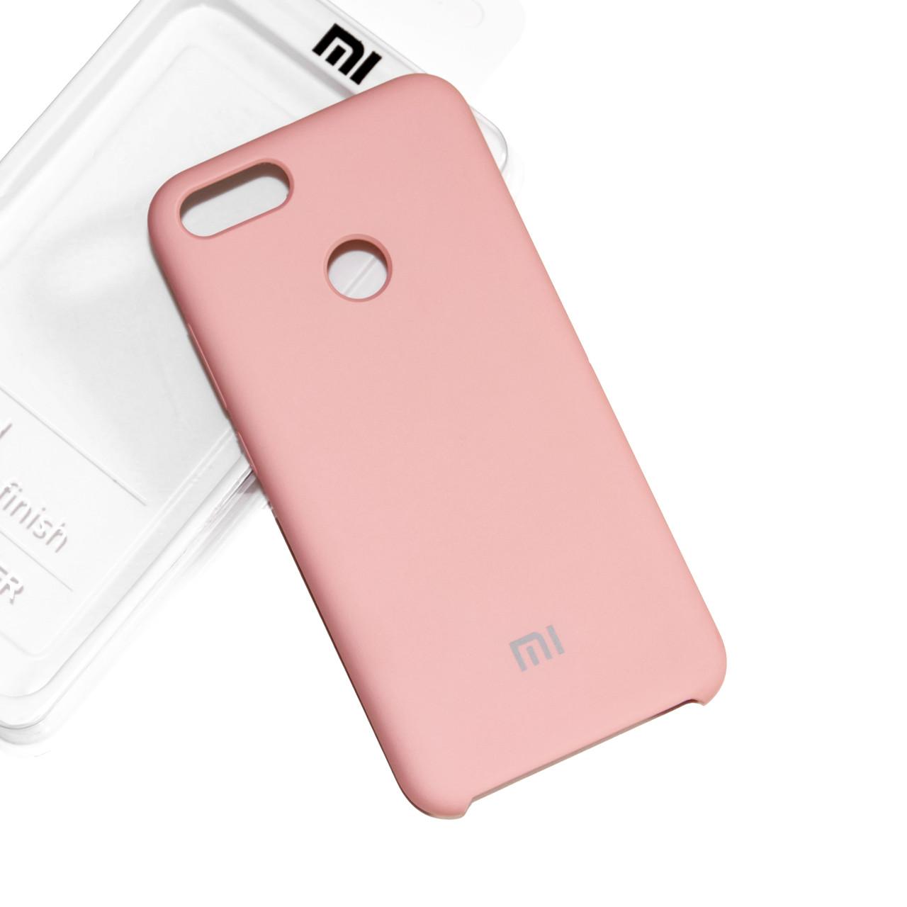Силиконовый чехол на Xiaomi Mi 5X / Mi A1 Soft-touch Pink