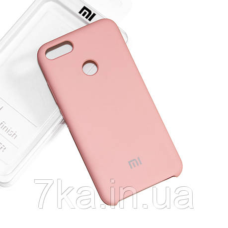 Силиконовый чехол на Xiaomi Mi 5X / Mi A1 Soft-touch Pink, фото 2