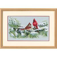 Набор для вышивки крестом Dimensions 35178 «Зимние кардиналы»
