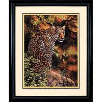Набор для вышивки крестом Dimensions 35209 «Пристальный взгляд леопарда»