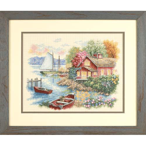 Набор для вышивки крестом Dimensions 35230 «Спокойный дом у озера»