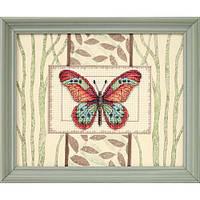 Набор для вышивки крестом Dimensions 65026 «Бабочки и листья»