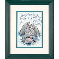 Набор для вышивки крестом Dimensions 65068 «Смеющиеся дельфины»