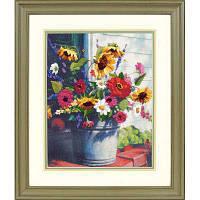 Набор для вышивки гладью Dimensions 1534 «Ведерко цветов»
