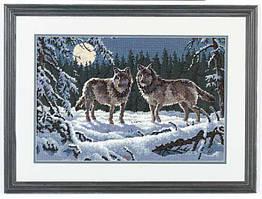Набор для вышивки гобелен Dimensions 12153 «Волки в ночи»