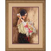 Набор для вышивки крестом Dimensions 70-35274 «Женщина с букетом»