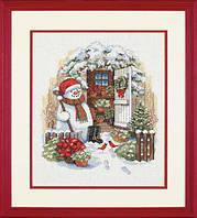 Набор для вышивки крестом Dimensions 8817 «Садовый снеговик»