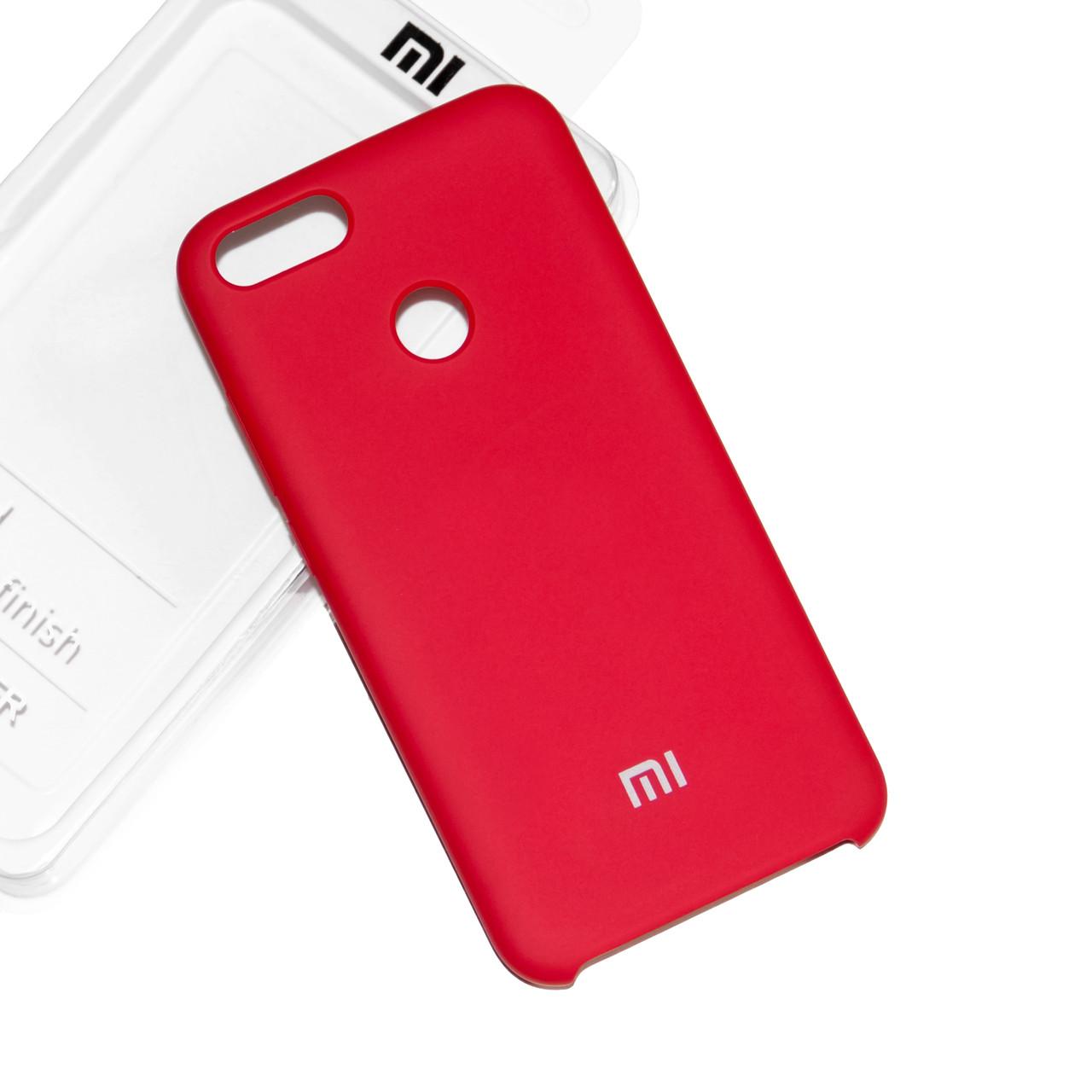 Силиконовый чехол на Xiaomi Mi 5X/ Mi A1 Soft-touch Red