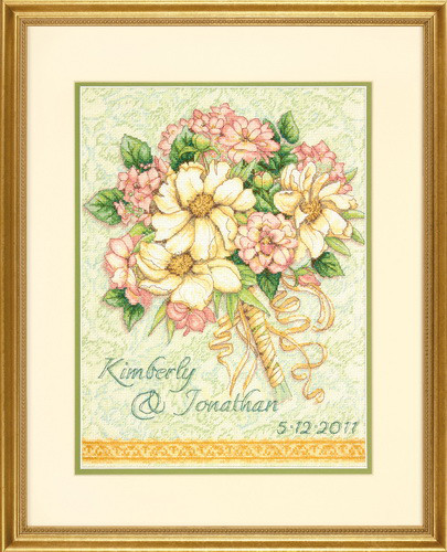 Набор для вышивки крестом Dimensions 70-35275 «Свадебный букет»