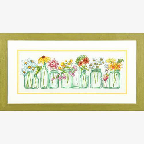 Набор для вышивки крестом Dimensions 70-35310 «Цветы в банках»