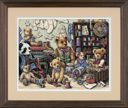Набор для вышивки крестом Dimensions 35151 «Мишки и пуговицы»