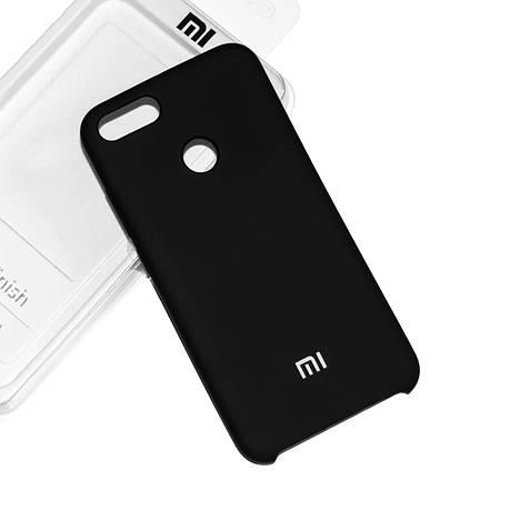 Силиконовый чехол на Xiaomi Mi 5X/ Mi A1 Soft-touch Black, фото 2