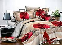 Двуспальный комплект постельного белья с 3D эффектом PS-NZ 2479