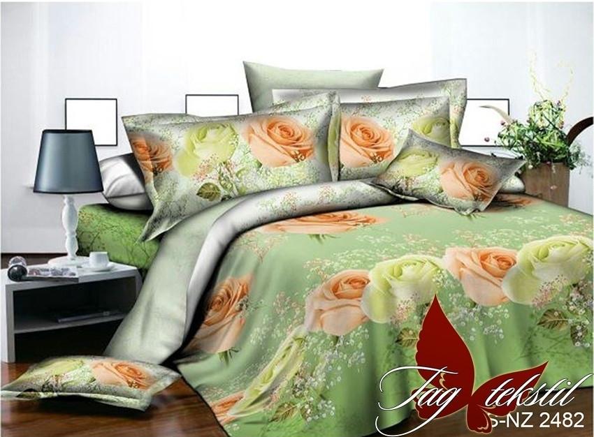 Полуторный комплект постельного белья с 3D эффектом PS-NZ 2482