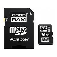 Карта памяти GOODRAM 16GB microSDHC Class 10 UHS I + adapter (M1AA-0160R11)