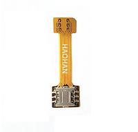 Переходник адаптер для 2-х сим sim карт и Micro SD nano sim dual шлейф