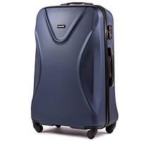 Брендовий ультралегкий дорожній чемодан ABS+ WINGS 518 великий 76х49х28 темно синій