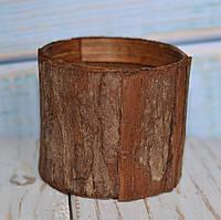 Кашпо из коры маленькое, фото 1