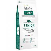 Сухой корм для пожилых собак всех пород Brit Care Senior Lamb & Rice, 1 кг
