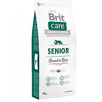 Сухой корм для пожилых собак всех пород Brit Care Senior Lamb & Rice, 1 кг